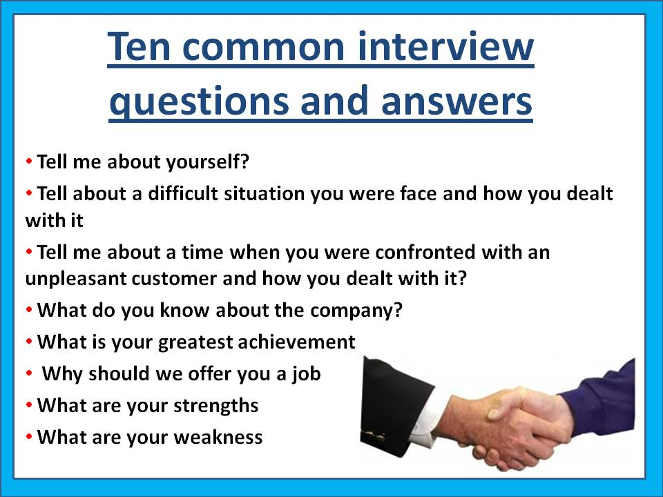 Common Interview Questions And Answers  JobsamericaInfo